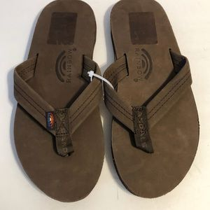 Rainbow 301 Alts Leather Thong Sandal 9.5 Brown